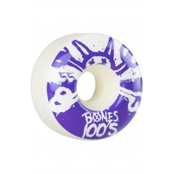 ROUE BONES 100S WHITE 55MM X 34 PURPLE