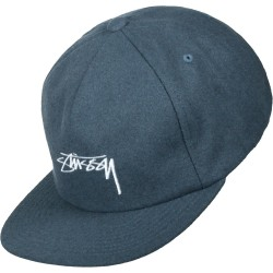 CASQUETTE STUSSY SMOOTH STOCK MELTON - BLUE