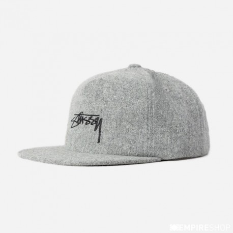 CASQUETTE STUSSY SMOOTH STOCK MELTON - GREY