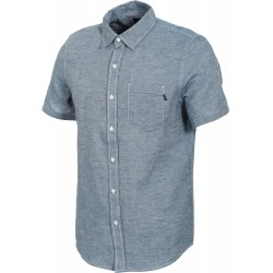 CHEMISE HUF COURSE SS CHAMBRAY - BLUE
