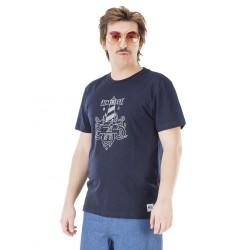 T-SHIRT PICTURE CAP FERRET - DARK BLUE