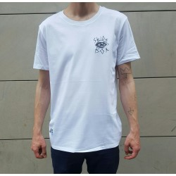 T-SHIRT SLIDEBOX X MC STARCK - BLANC