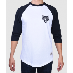 RAGLAN JACKER BLACK CATS - WHITE BLACK