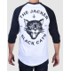 RAGLAN JACKER BLACK CATS - WHITE BLACK