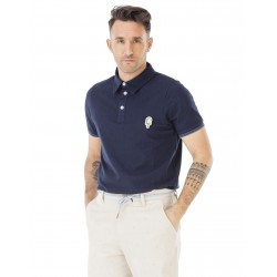 POLO PICTURE CREAM - DARK BLUE