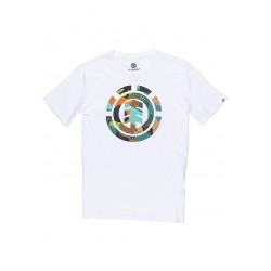 T-SHIRT ELEMENT CUT OUT ICON - BLANC