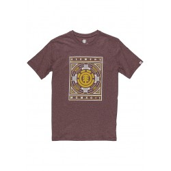 T-SHIRT ELEMENT EMBLEM - OXBLOOD
