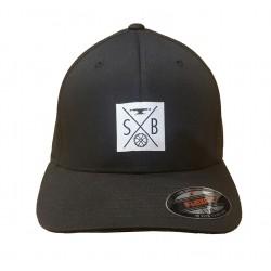 CASQUETTE SLIDEBOX FLEXFIT - BLACK/WHITE