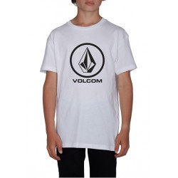 T-SHIRT VOLCOM CIRCLESTONE KID BSC - WHITE