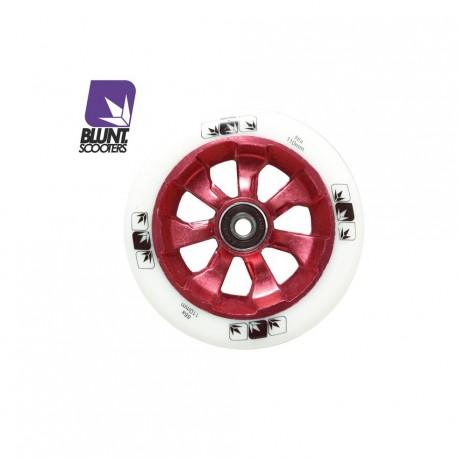 ROUE BLUNT 7 SPOKES 110MM - WHITE / RED