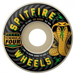 ROUES SPITFIRE F4 101D RADIAL SLIM - 54MM