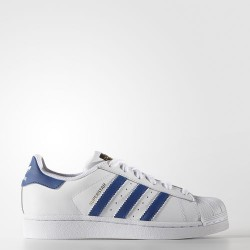 CHAUSSURE ADIDAS SUPERSTAR KID - WHITE / BLUE