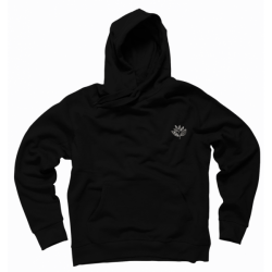 SWEAT MAGENTA SUN PLANT HOOD - BLACK