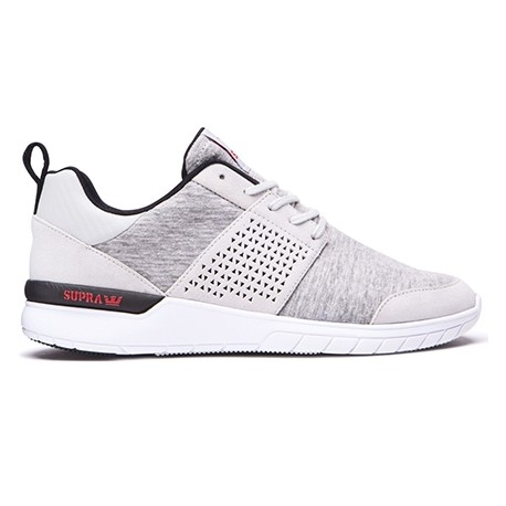 CHAUSSURE SUPRA SCISSOR - LIGHT GREY / RED