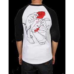 T-SHIRT JACKER - HOLLY ROSE - WHITE/BLACK