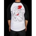 T-SHIRT JACKER RAGLAN HOLLY ROSE - WHITE/BLACK