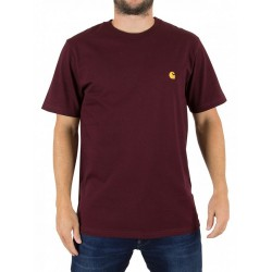 T-SHIRT CARHARTT CHASE S/S - AMARONE / GOLD