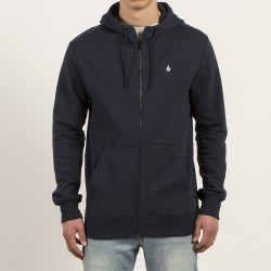 HOODIE ZIP VOLCOM - SINGLE STONE - NAVY