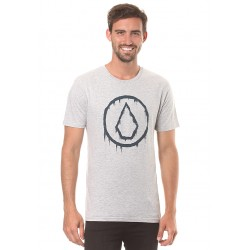 T-SHIRT VOLCOM BASIC SLUDGESTONE S/S - HEATHER GREY