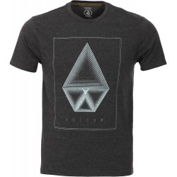 T-SHIRT VOLCOM CONCENTRIC - HEATHER BLACK