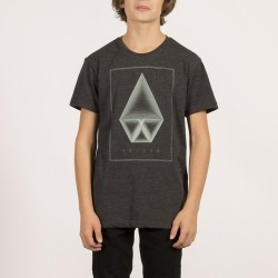T-SHIRT VOLCOM KIDS CONCENTRIC - HEATHER BLACK