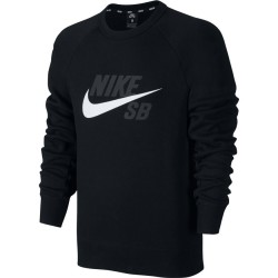 SWEAT NIKE SB CREW ICON - BLACK / WHITE