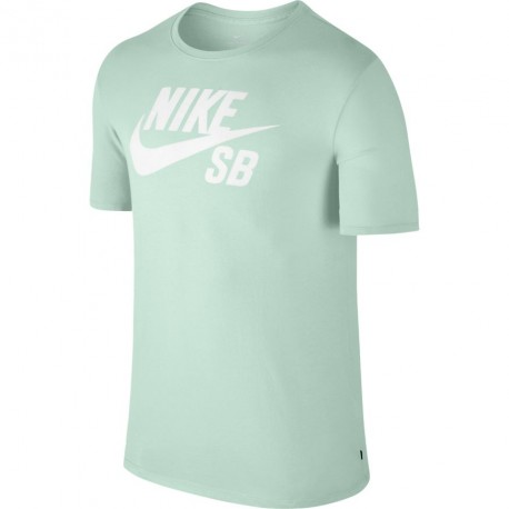 T-SHIRT NIKE SB LOGO DRY - BARELY GREEN / WHITE