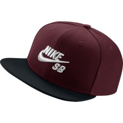 CASQUETTE NIKE SB ICON - DARK TEAM RED / BLACK