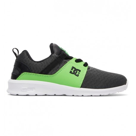 CHAUSSURES DC SHOES KID HEATHROW SE - GREEN / GREY / WHITE
