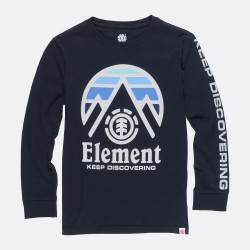 T-SHIRT ELEMENT TRI TIP LS BOY - FLINT BLACK