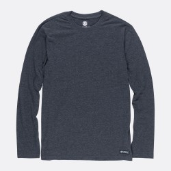 T-SHIRT ELEMENT BASIC CREW LS - CHARCOAL HEATHER