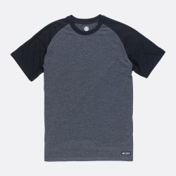 T-SHIRT ELEMENT BASIC RAGLAN - CHARCOAL HEATHE