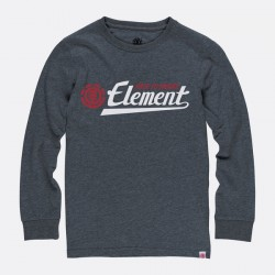 T-SHIRT ELEMENT SIGNATURE LS BOY - CHARCOAL HEATHER