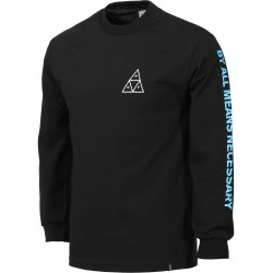 T-SHIRT HUF MULTI TRIPLE TRIANGLE LS - BLACK