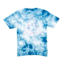 T-SHIRT HUF WASHED TRIPLE TRIANGLE - BLUE