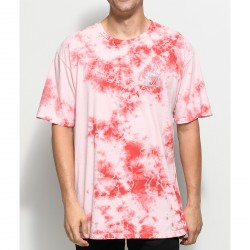 T-SHIRT HUF WASHED TRIPLE TRIANGLE - CORAL