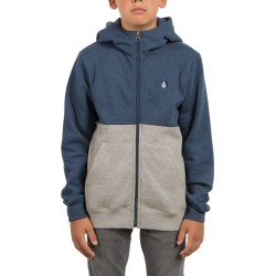 SWEAT KID VOLCOM DIVISION ZIP - SMOKEY BLUE