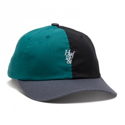 CASQUETTE HUF CAP COUNTRY CLUB CURVE VISOR - BLACK