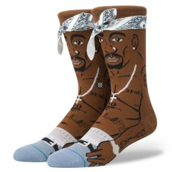 CHAUSSETTES STANCE 2PAC TUPAC - BROWN