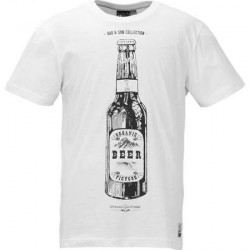 T-SHIRT PICTURE BEER CAN - WHITE