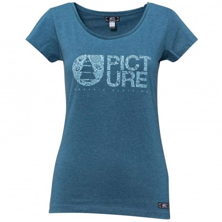 TEE SHIRT PICTURE ORGANIC W - BASEMENT CASHMERE - PETROL BLUE