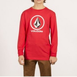 T-SHIRT VOLCOM KID CIRCLE STONE LS - RED