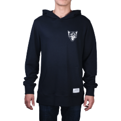 SWEAT HOODIE JACKER BLACK CATS - BLACK