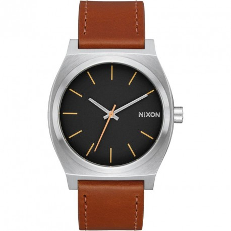 MONTRE NIXON TIME TELLER - SILVER / BLACK / BROWN