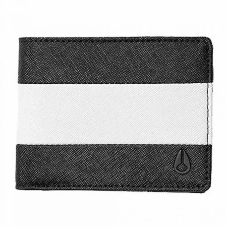 PORTEFEUILLE NIXON - ARC BI FOLD - BLACK/WHITE