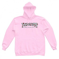 SWEAT THRASHER HOOD ROSES - PINK