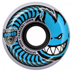 ROUES SPITFIRE CHARGERS CONICAL 80HD 58MM - CLEAR