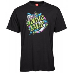 T-SHIRT SANTA CRUZ YOUTH - SHARK DOT TEE - BLACK