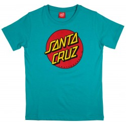 T-SHIRT SANTA CRUZ YOUTH - CLASSIC DOT - BLUE