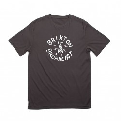 T-SHIRT BRIXTON BROADCAST PREMIUM - WASHED BLACK